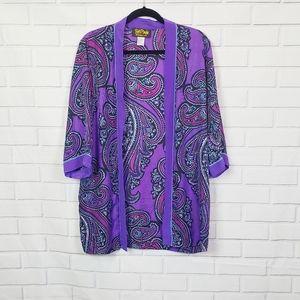 EASTER SALE Bob Mackie 100% silk kimono size small
